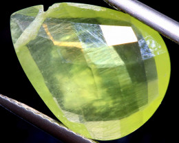 5.05   CTS  PREHNITE FACETED BEAD   LG-467