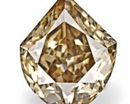 Australia Fancy Color Diamond, 0.54 Carats, Fancy Deep Brown Fancy Cut