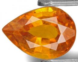 Tajikistan Clinohumite, 1.54 Carats, Yellowish Orange Pear