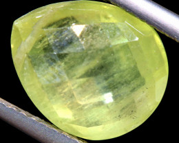 4.30   CTS  PREHNITE FACETED  BEAD   LG-477