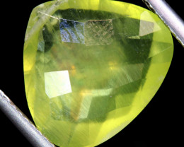 6.70   CTS  PREHNITE FACETED  BEAD     LG-478