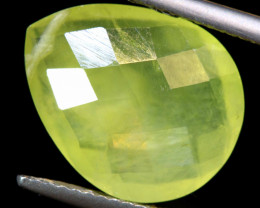 6.30  CTS PREHNITE FACETED  BEAD    LG-473