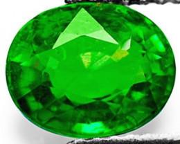 Kenya Tsavorite Garnet, 1.00 Carats, Intense Green Oval