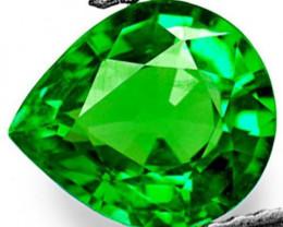 Kenya Tsavorite Garnet, 0.69 Carats, Electric Green Pear