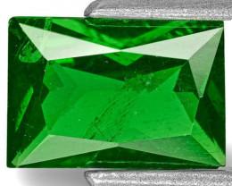 Kenya Tsavorite Garnet, 1.22 Carats, Chrome Green Rectangular