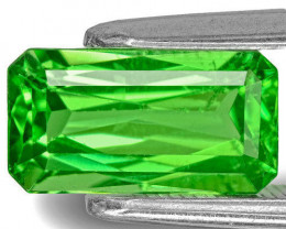 Kenya Tsavorite Garnet, 2.06 Carats, Lively Green Emerald Cut