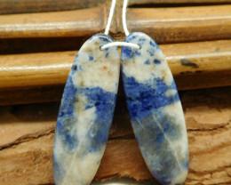 African sodalite earring bead (G1876)