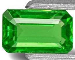 Kenya Tsavorite Garnet, 1.12 Carats, Lively Green Emerald Cut