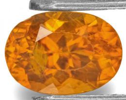 Tajikistan Clinohumite, 1.16 Carats, Fiery Orange Oval