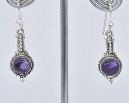 AMETHYST EARRINGS 925 STERLING SILVER NATURAL GEMSTONE JE425