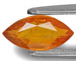 Tajikistan Clinohumite, 1.36 Carats, Yellowish Orange Marquise