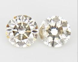 2/0.20 CTS , Natural Round Diamonds , Light Colored Diamonds