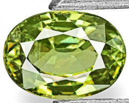 Namibia Demantoid Garnet, 0.61 Carats, Yellowish Green Oval