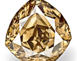 Australia Fancy Color Diamond, 0.47 Carats, Fancy Deep Champagne Brown