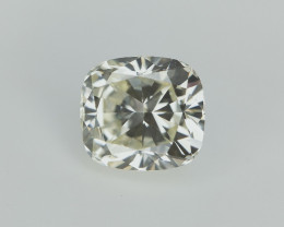 0.50 cts , Cushion Brilliant Cut Diamond , Half Carat Diamond , Light Yello