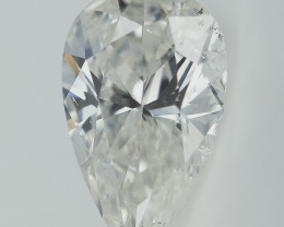 0.75 cts , White Diamond ,  Pear Diamond , Rare Beautiful Diamond