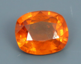 0.90ct Natural Beautiful Colour Cushion Cut Clinohumite From Africa