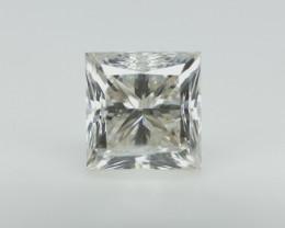 1.00 cts , White Diamond , Princess Cut  , Setting Stone