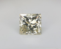 0.72 CTS , light yellow Diamond , Princess Brilliant Cut