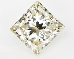 0.72 CTS , light yellow Diamond , Princess Brilliant Cut