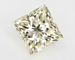 0.96 cts , Natural Loose Diamond , Princess cut