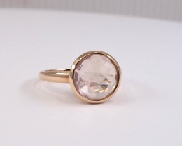 14k Rose Gold and Rose Quartz