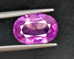 $4500/- Natural Pink Sapphire 4.85 Cts from Kashmir, Pakistan