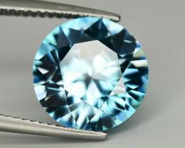 6.80 Ct Gorgeous Color Natural Vibrant Blue Zircon