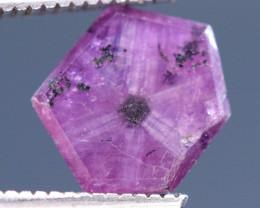 2 carats Trapiche Pink Kashmir Sapphire