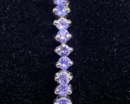 (36) Stunning 13.42tcw. Rich Blue Violet Tanzanite Bracelet Unheated