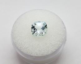 Aquamarine, 1.85 Carats, Cushion Cut