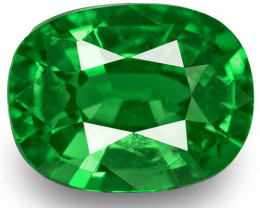 Kenya Tsavorite Garnet, 0.49 Carats, Chrome Green Cushion