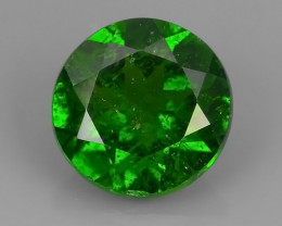 1.40 CTS NATURAL ULTRA RARE CHROME GREEN DIOPSIDE  RUSSIA
