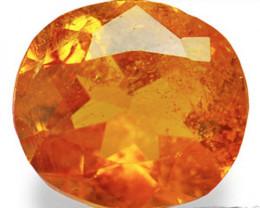 Tanzania Clinohumite, 0.60 Carats, Dark Orange Oval