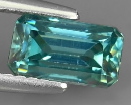 2.05 CTS EXTREME OVAL NATURAL RARE BLUE ZIRCON OCTAGON EXCELLENT!!