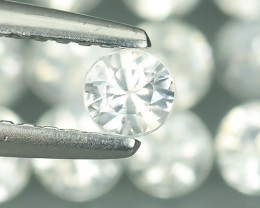3.30 CTS~FINE QUALITY_LUSTROUS - NATURAL WHITE  ZIRCON - ROUND _CUT NR!!