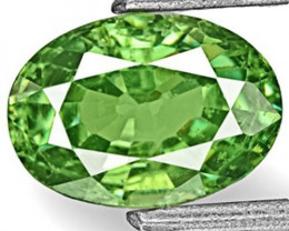 Namibia Demantoid Garnet, 1.05 Carats, Fiery Green Oval