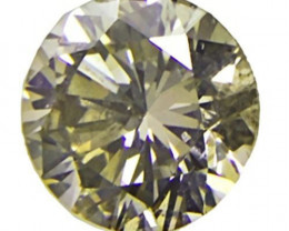 South Africa Fancy Color Diamond, 0.26 Carats, Vivid Green Round