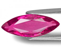 Mozambique Rubellite Tourmaline, 2.18 Carats, Rich Pink Marquise