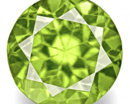 India Sphene, 0.52 Carats, Bright Green Round