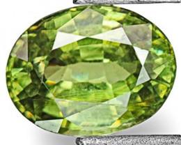 Namibia Demantoid Garnet, 0.79 Carats, Vivid Neon Green Oval