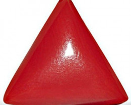 Italy Coral, 5.13 Carats, Orangy Red Triangular