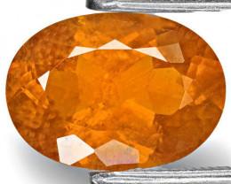 Tajikistan Clinohumite, 2.76 Carats, Fanta Orange Oval