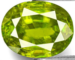 India Sphene, 2.66 Carats, Intense Green Oval
