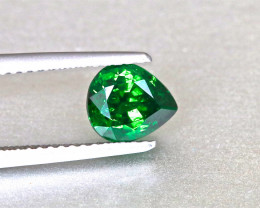 Vivid Chrome Green Tsavorite Garnet - 1.37ct - Pear - Shiny Gem