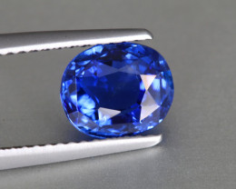 Shiny Bright Blue Sapphire - Unheated 2.75ct - Cushion - Eye Clean - Madaga