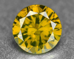0.26 Cts Sparkling Rare Fancy Intense Yellow Color Natural Loose Diamond