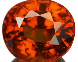 2.62 Cts Natural Cinnamon Orange Hessonite Garnet Oval Sri Lanka