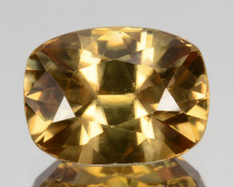~SHIMMERING~ 2.96 Cts Natural Golden Zircon Cushion Custom Cut Tanzania