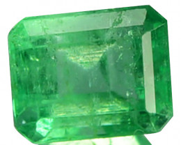 Natural Vivid Green Emerald Octagon Cut Colombia 0.66 Cts